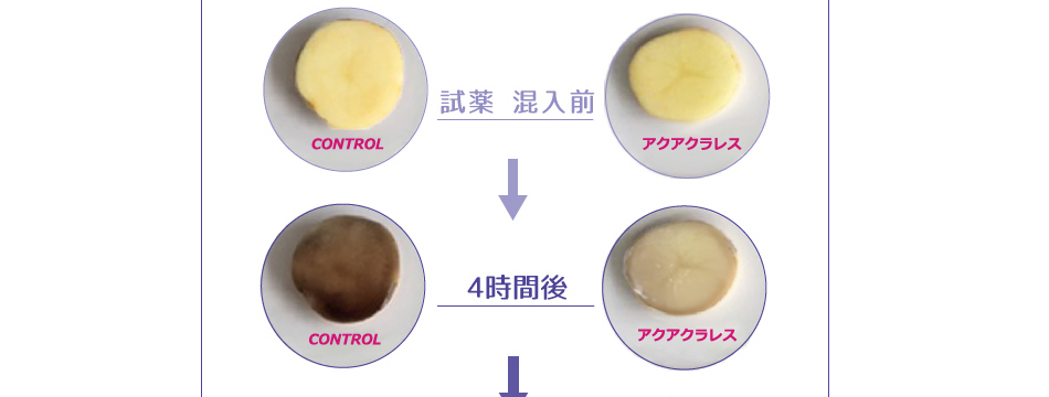 ジャガイモのメラニン生成抑制